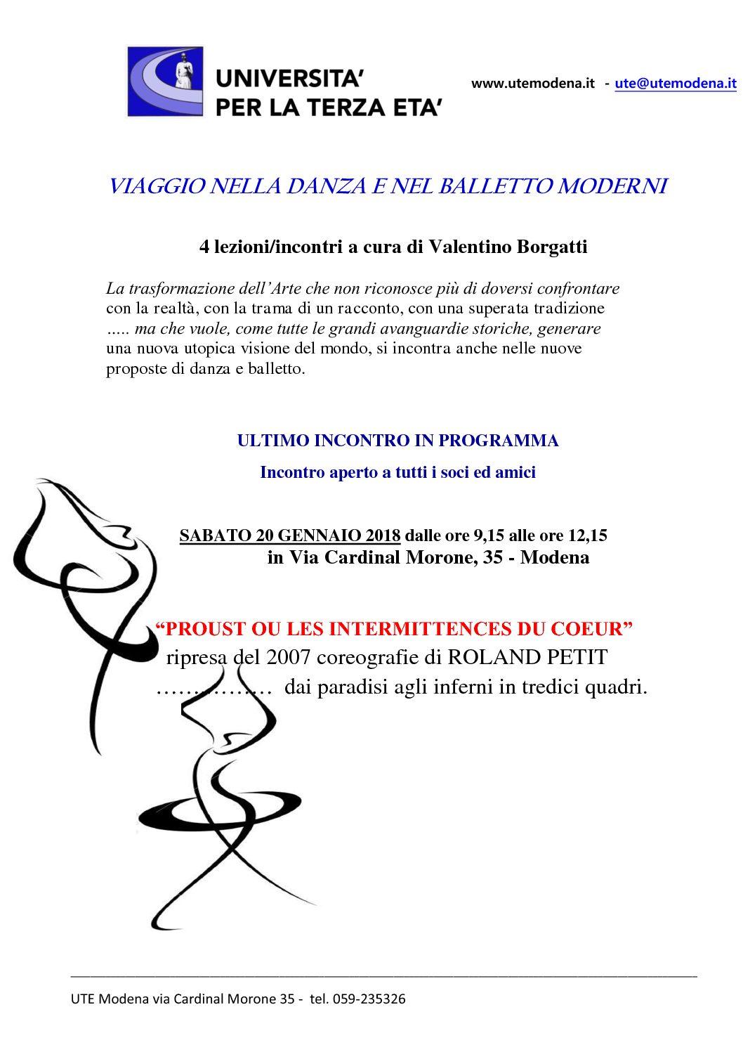 VIAGGIO NELLA DANZA E NEL BALLETTO MODERNI