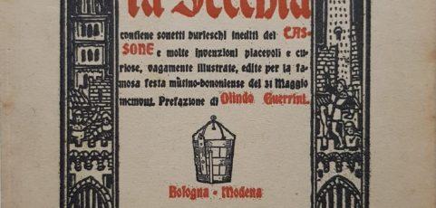 """""""LA SECCHIA RAPITA"""" di Alessandro Tassoni modanese con un fico in mano  —"""