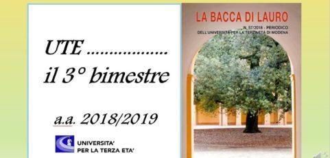3 BIMESTRE – Anno Accademico 2018-2019