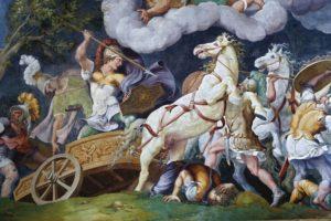 Giulio Romano: Diomede combatte Fegeo e Ideo (1538-9) – Mantova Pal. Ducale